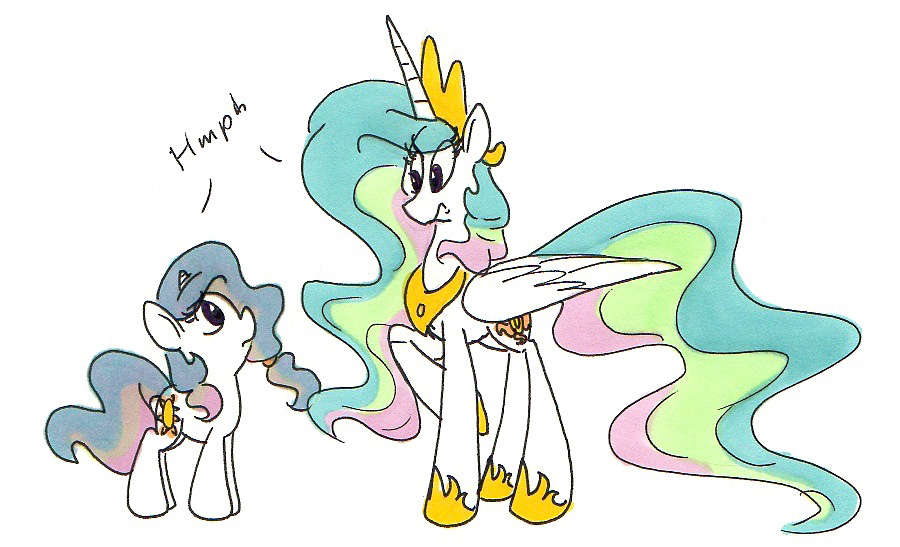 Celestia meets Sunny days by Ghost-Peacock