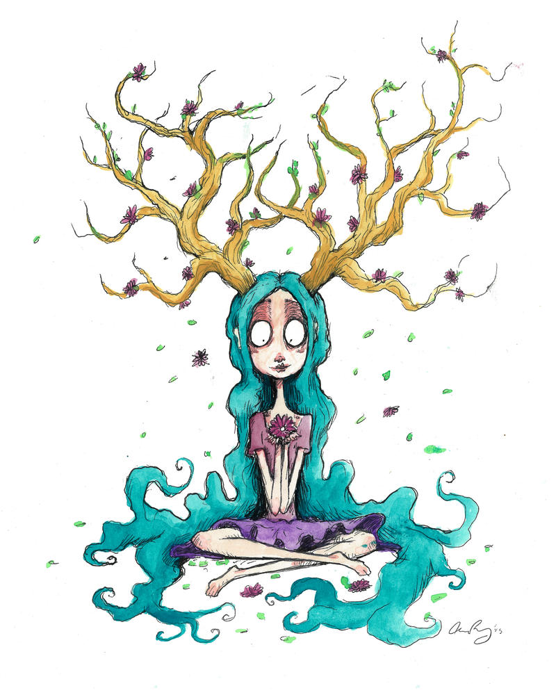 Ainsley the tree spirit 4 by chrisbonney