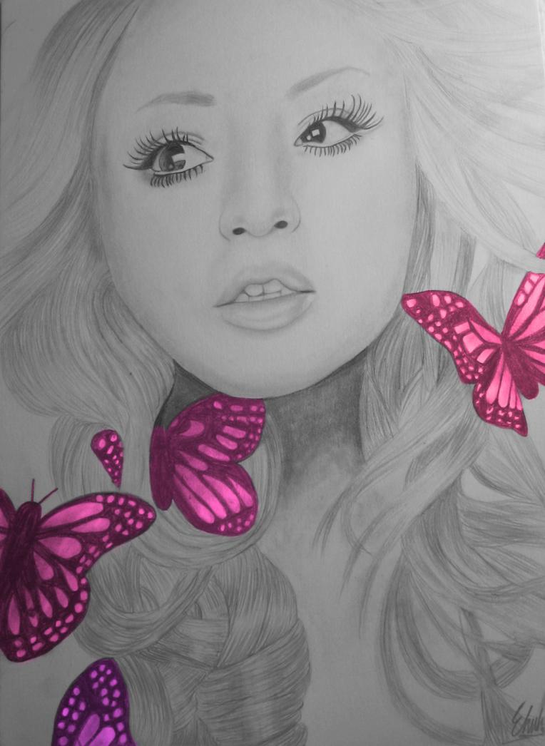 Pink Butterflies by Ehvh