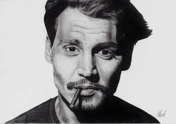 Johnny Depp by Ehvh