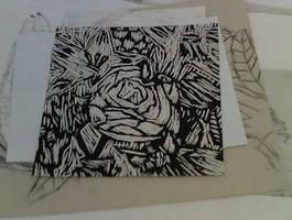 Lino Cutting Rose
