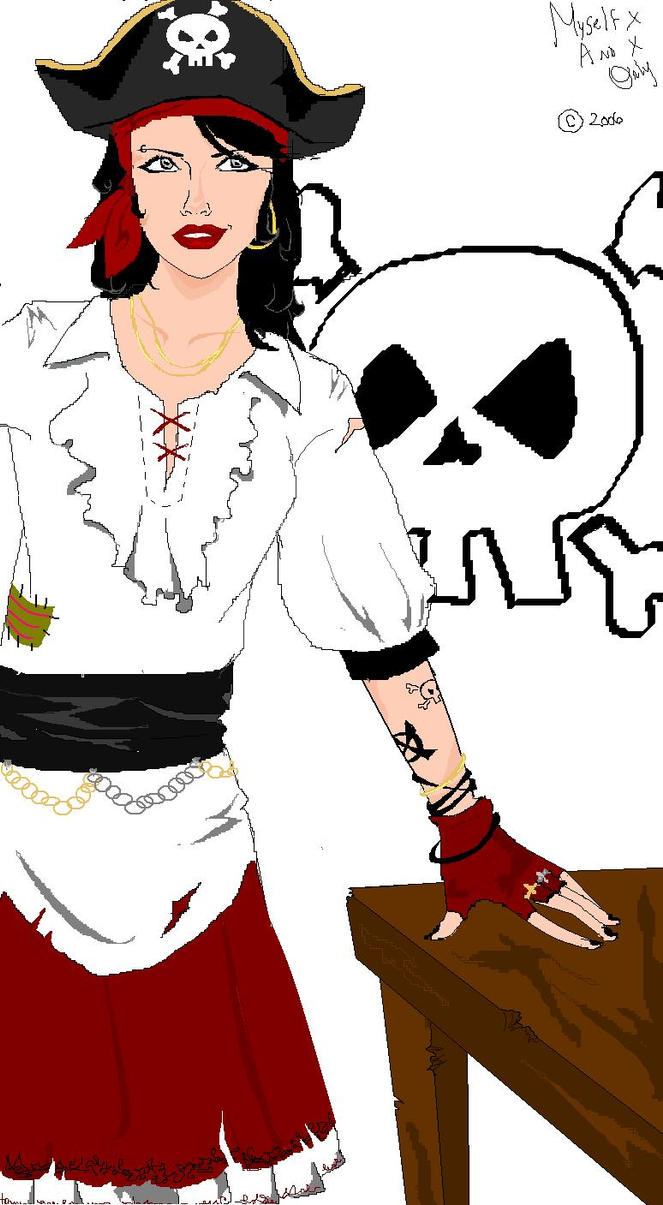 Pirate Lady by MyselFxAnDxOnlY