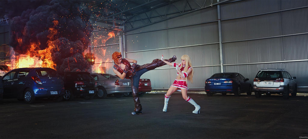 TEKKEN- Hwoarang vs Lili by Vera-Chimera