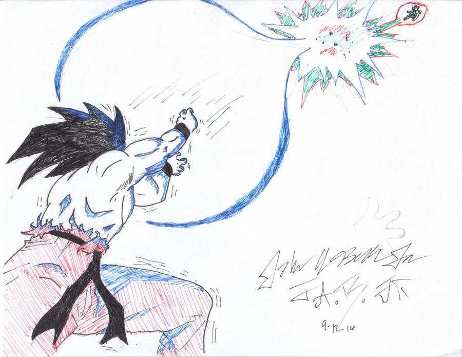 Goku vs Vegeta by Johnabelcher on DeviantArt