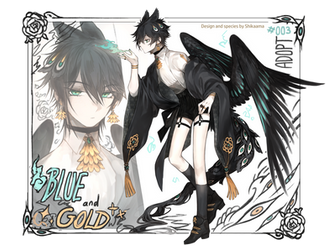 [Adopt]Auction - Blue and Gold [CLOSED] by Shikaama