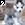 le kawaii husky cursor icon