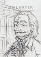 Doctor Who Sketch Cards WIP 1