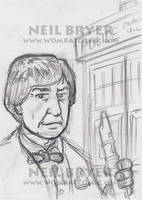 Doctor Who Sketch Cards WIP 2