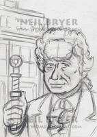 Doctor Who Sketch Cards WIP 3