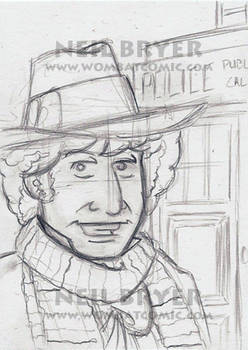Doctor Who Sketch Cards WIP 4
