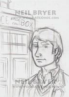 Doctor Who Sketch Cards WIP 5