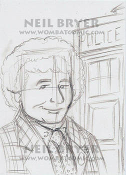 Doctor Who Sketch Cards WIP 6