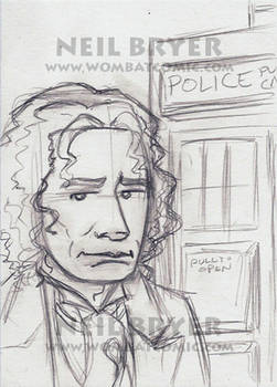 Doctor Who Sketch Cards WIP 8