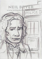 Doctor Who Sketch Cards WIP 8 by WombatOne
