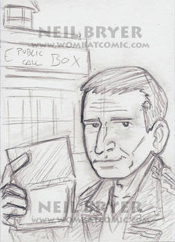 Doctor Who Sketch Cards WIP 9