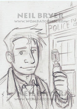Doctor Who Sketch Cards WIP 10