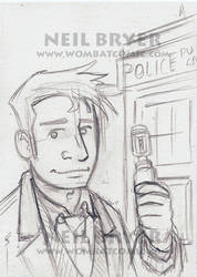 Doctor Who Sketch Cards WIP 10 by WombatOne