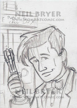 Doctor Who Sketch Cards WIP 11