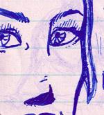 Blue girl by WombatOne