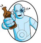 drunk robot label