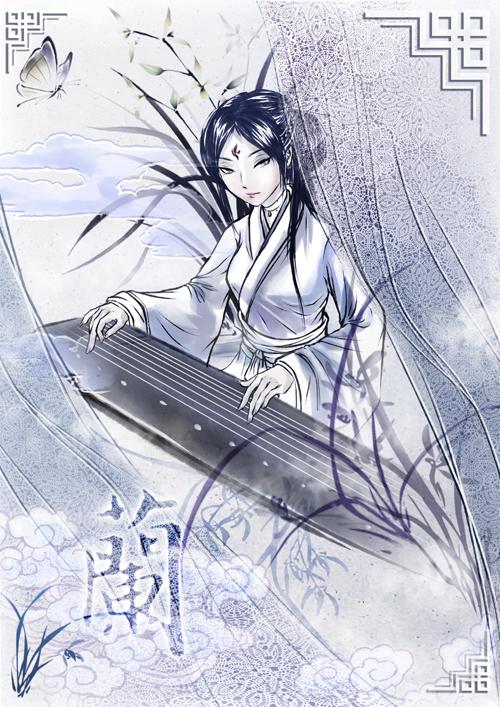 The girl in Hanfu for Flower Festival by elyoncat