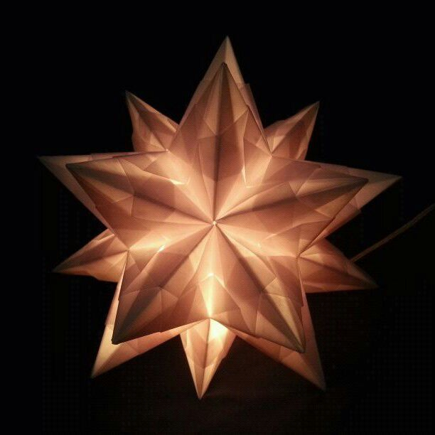 Origami bascetta star lamp by origamipanama on deviantart for Paper star lamp