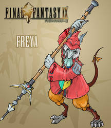 Freya coloured by Enkida
