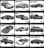 Ferrari 12 month calendar