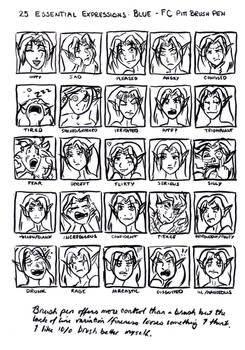 25 expressions Blue Du'Sonsa