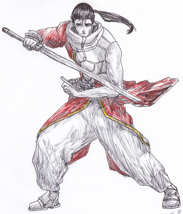 Young Auron sketch by Enkida
