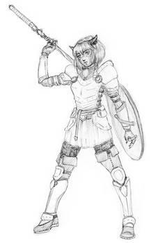 Warrior Catgirl