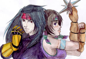 Vincent and Yuffie by Enkida