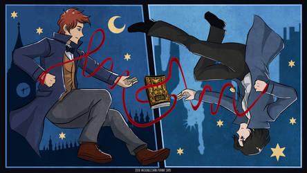 Newt and Tina (Newtina) Fantastic Beasts Book by eveneechan