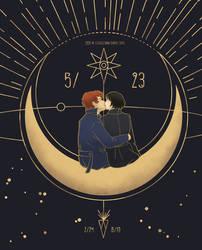 Newt and Tina (Newtina) Kiss Art Deco by eveneechan