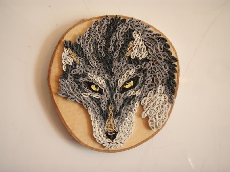 Wolf Paper Quilling -Final by Blue-Storm-Spirit