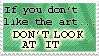 'If you don't like the art'