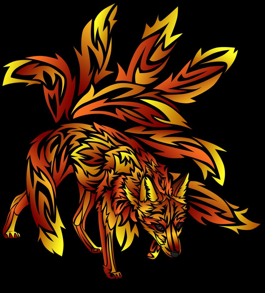 kitsune Tribal by ~little-koko on deviantART | Tattoo ... |Tribal Nine Tailed Fox Tattoos