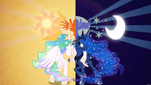this amazing picture Princess Celestia and Luna