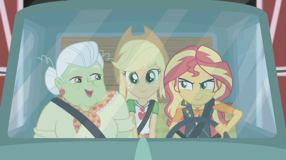 MLP EQG Driving Miss Sunset Moments 6 by Wakko2010