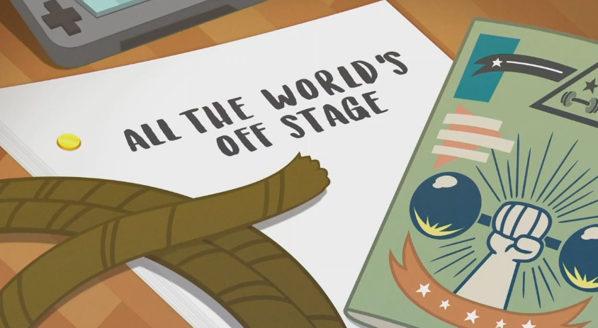 MLP EQG   All The World's Off Stage part Name by Wakko2010