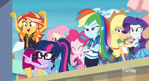 MLP EQG  Rollarcoaster of Friendship Moments 14 by Wakko2010