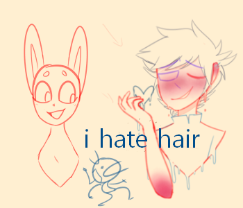 I Fuking Hate Hair by G1oRobot