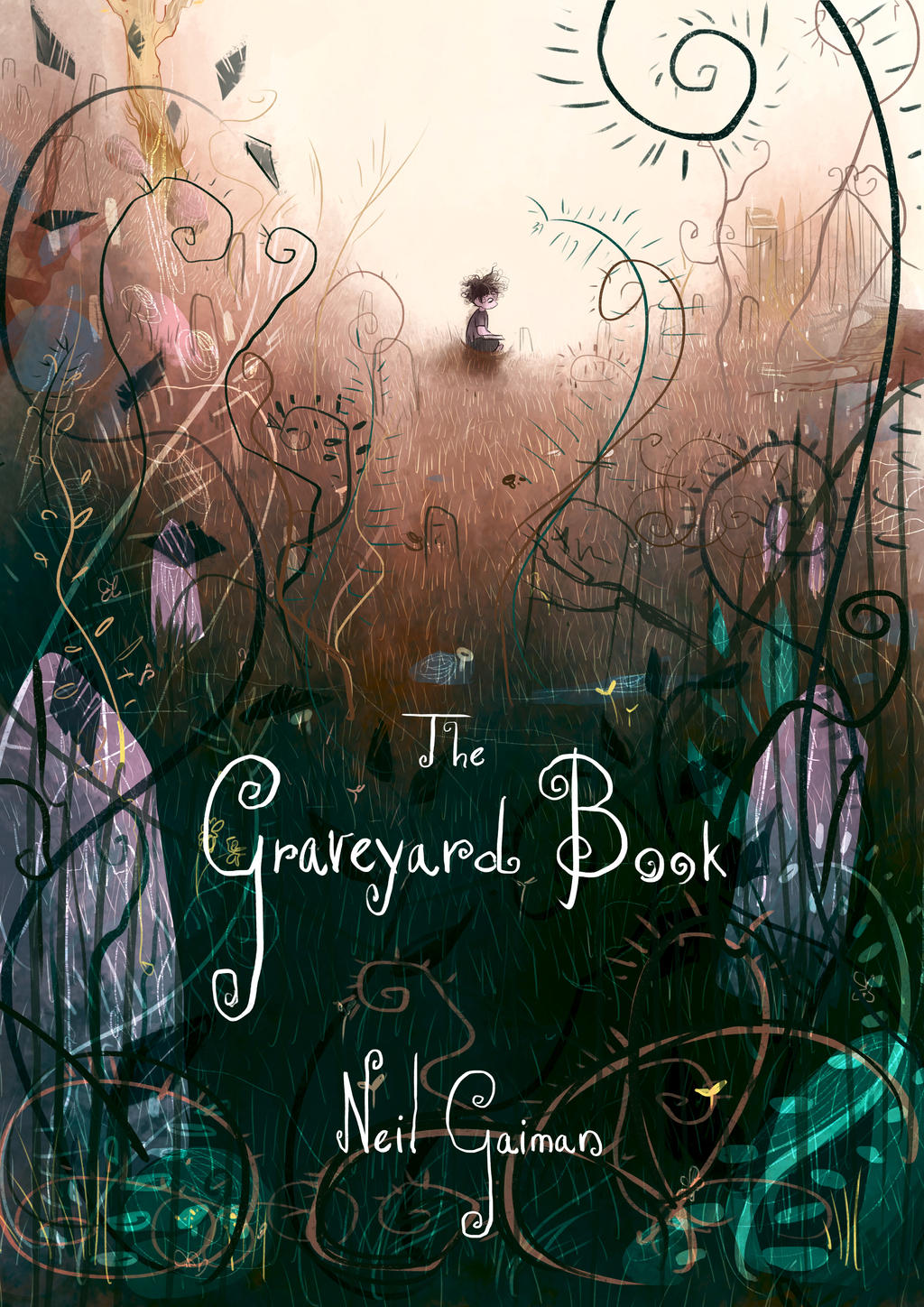 The Graveyard Book Cover Art : The graveyard book cover by elena el on deviantart