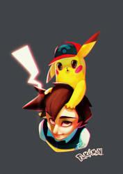 [Fanart] Ash and Pikachu by Elena-El