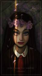 [Illustration] Don't wake the vampire by Elena-El