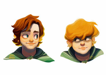 [Fanart] the Lord of the Rings - Frodo and Sam by Elena-El