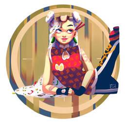 [CharacterIllustration] Ramen for Lunch by Elena-El