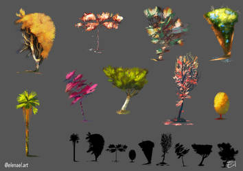 [PropDesign] Trees by Elena-El