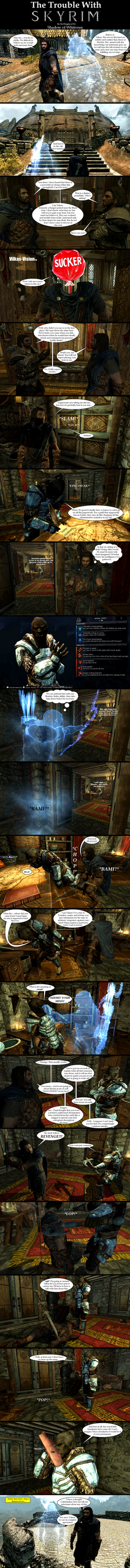 The Trouble with Skyrim: Shadow of Whiterun by Sir-Douglas