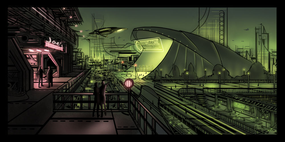 Futuristic Environment by patdzon on DeviantArt